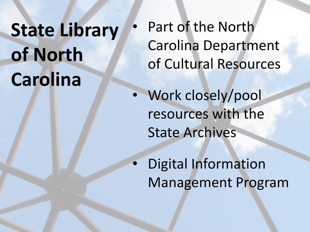 State Library of North Carolina • Part of the N...
