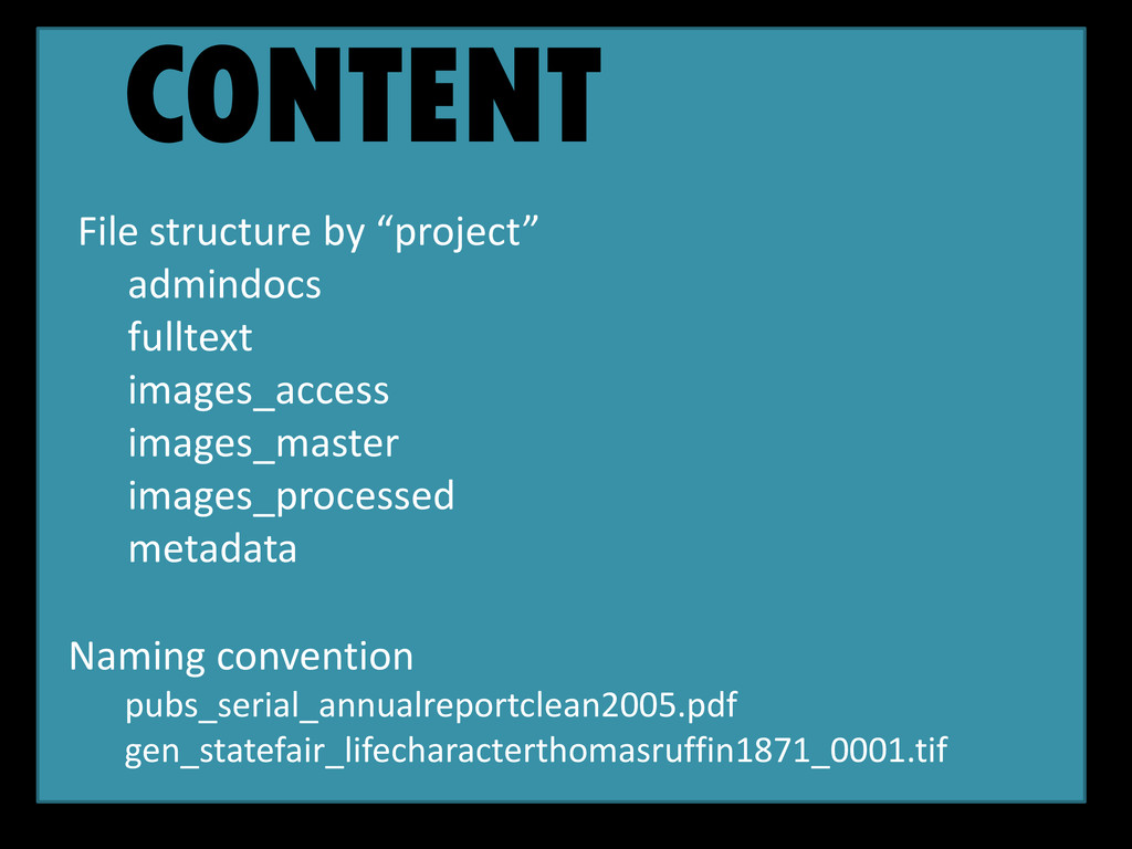 """CONTENT File structure by """"project"""" admindocs f..."""