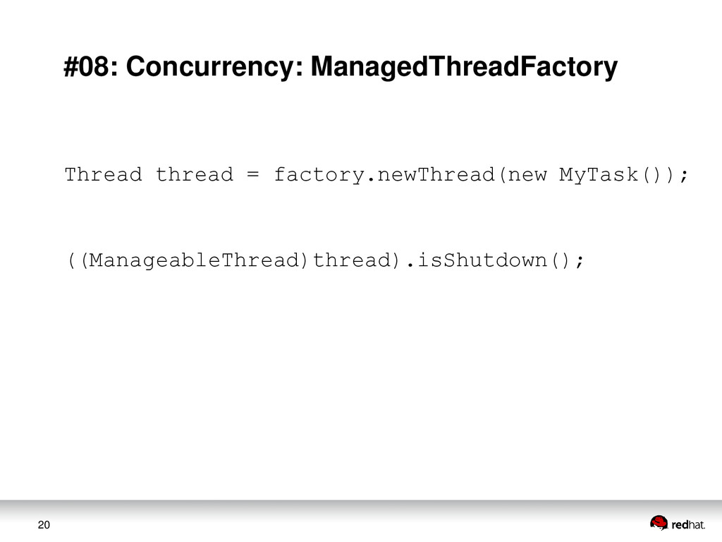20 #08: Concurrency: ManagedThreadFactory Threa...