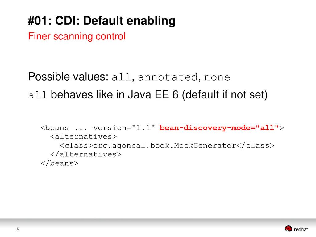 5 #01: CDI: Default enabling Finer scanning con...