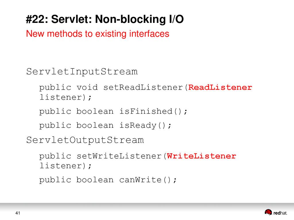 41 #22: Servlet: Non-blocking I/O ServletInputS...