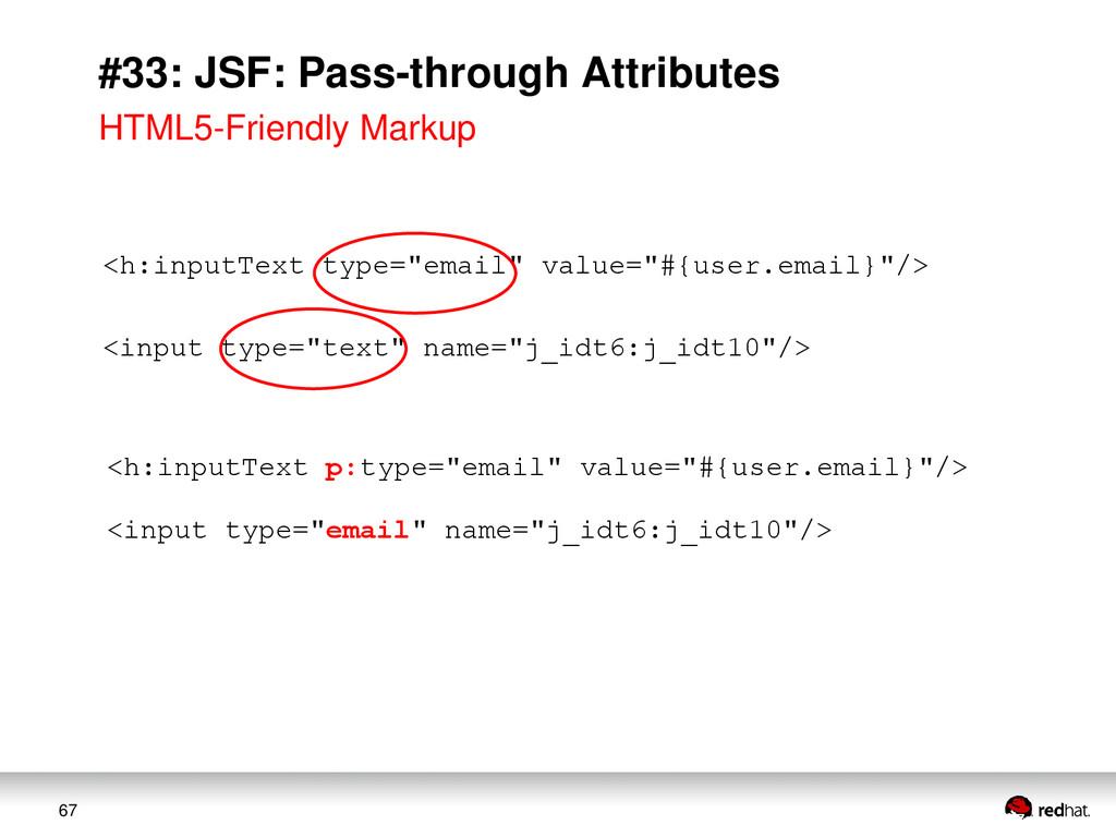 67 #33: JSF: Pass-through Attributes <h:inputTe...