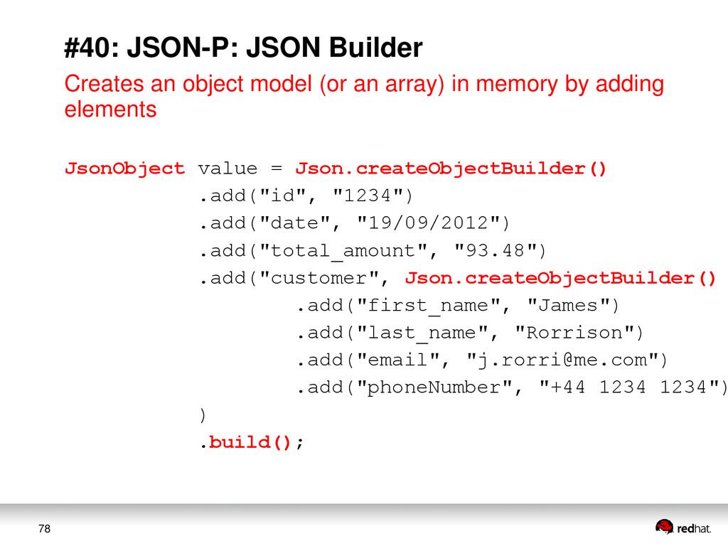 78 #40: JSON-P: JSON Builder Creates an object ...
