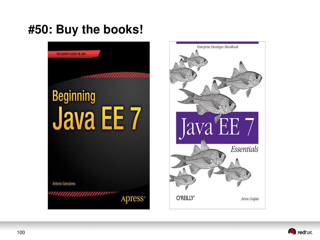 100 #50: Buy the books!