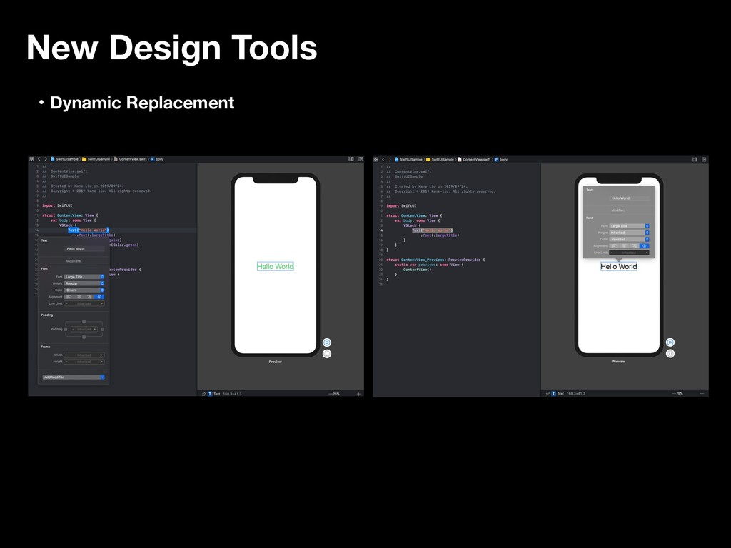 New Design Tools ɾDynamic Replacement