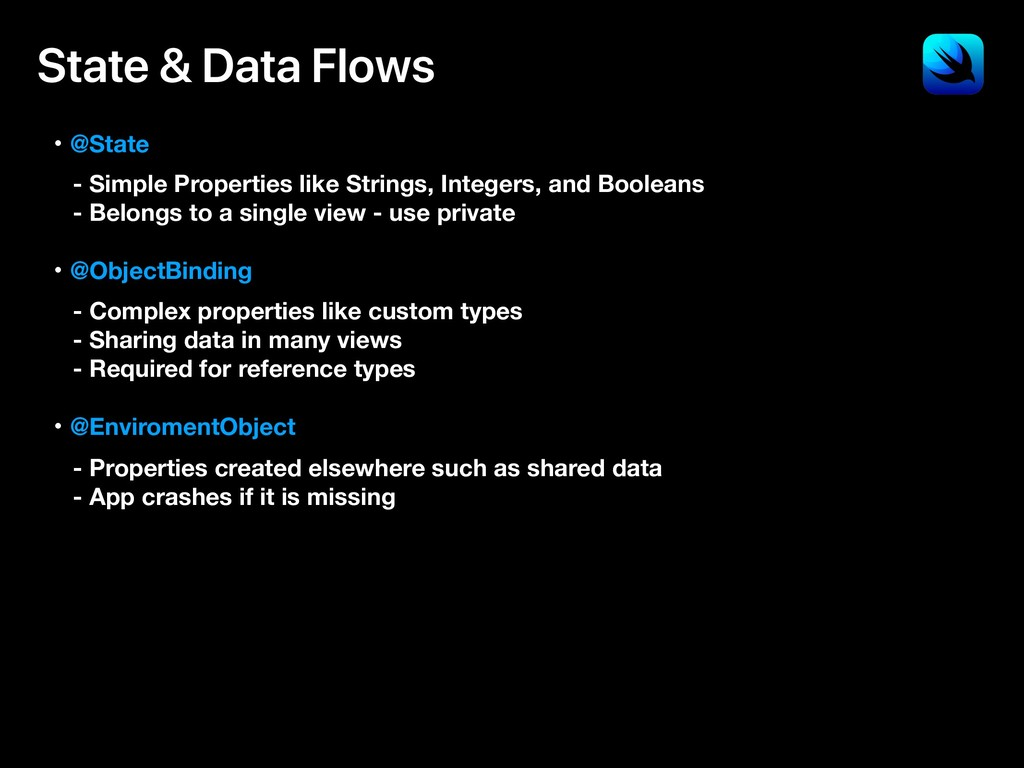 State & Data Flows ɾ@State - Simple Properties ...