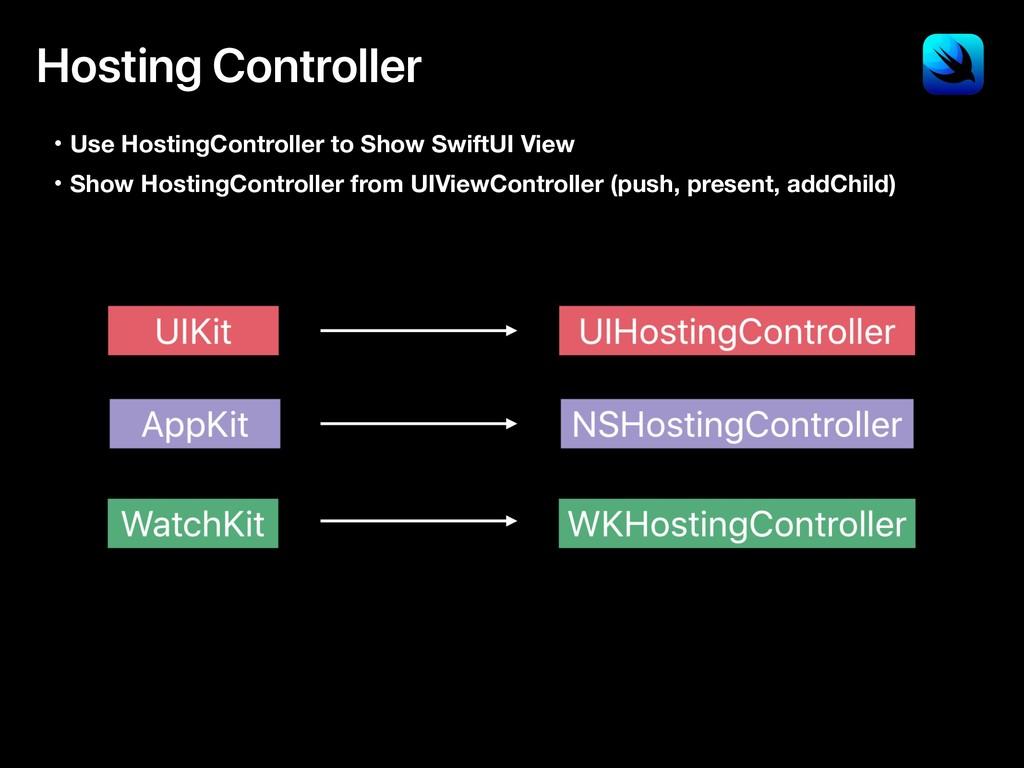 Hosting Controller ɾUse HostingController to Sh...