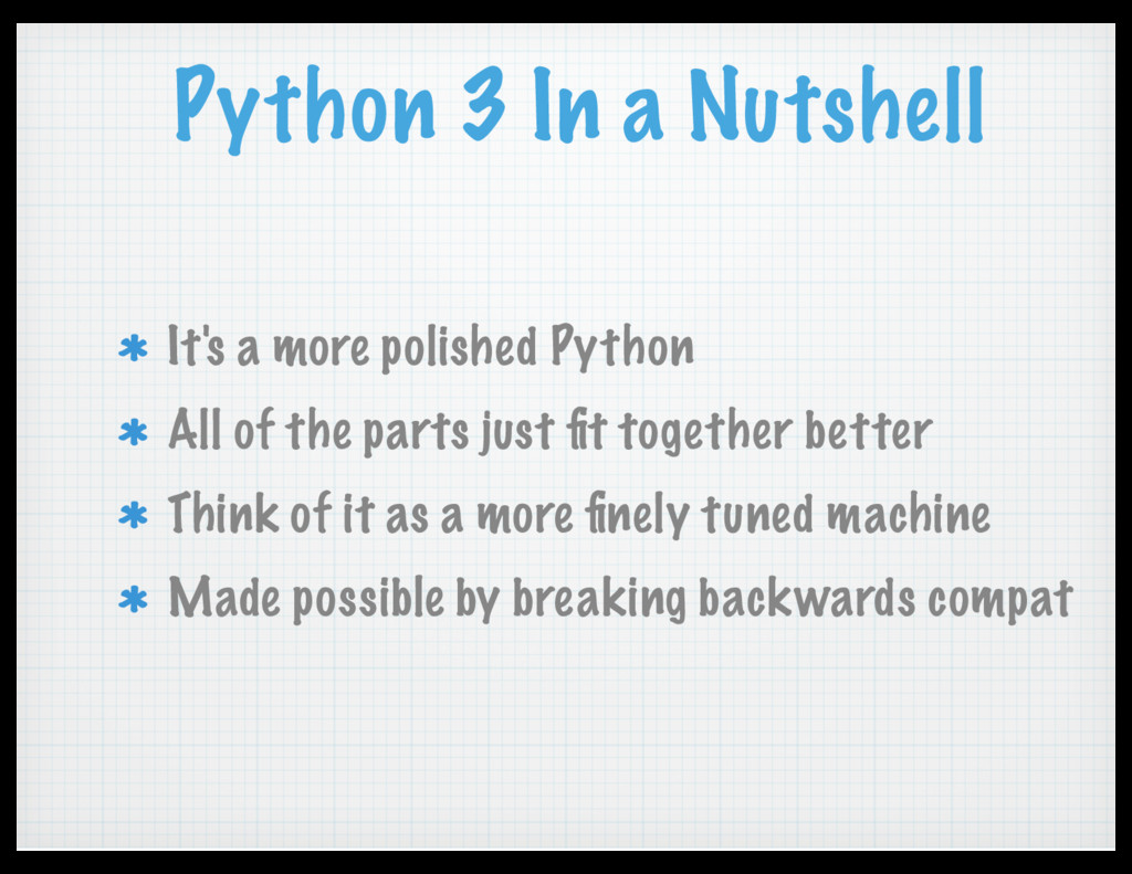 Python 3 In a Nutshell It's a more polished Pyt...