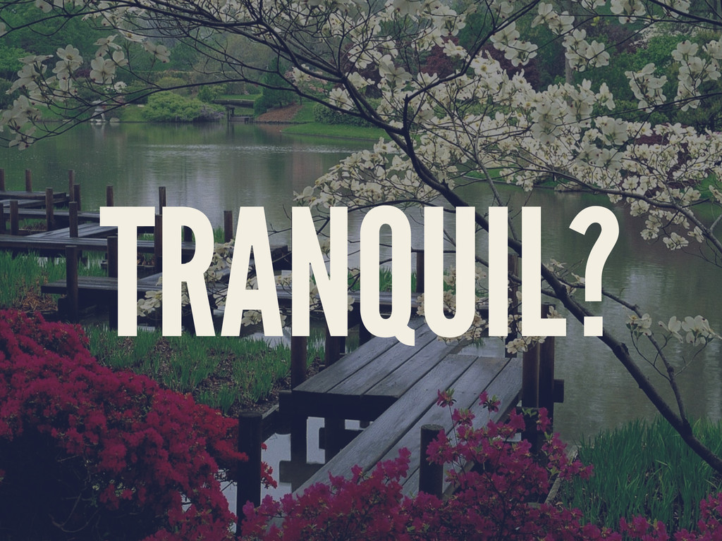 TRANQUIL?