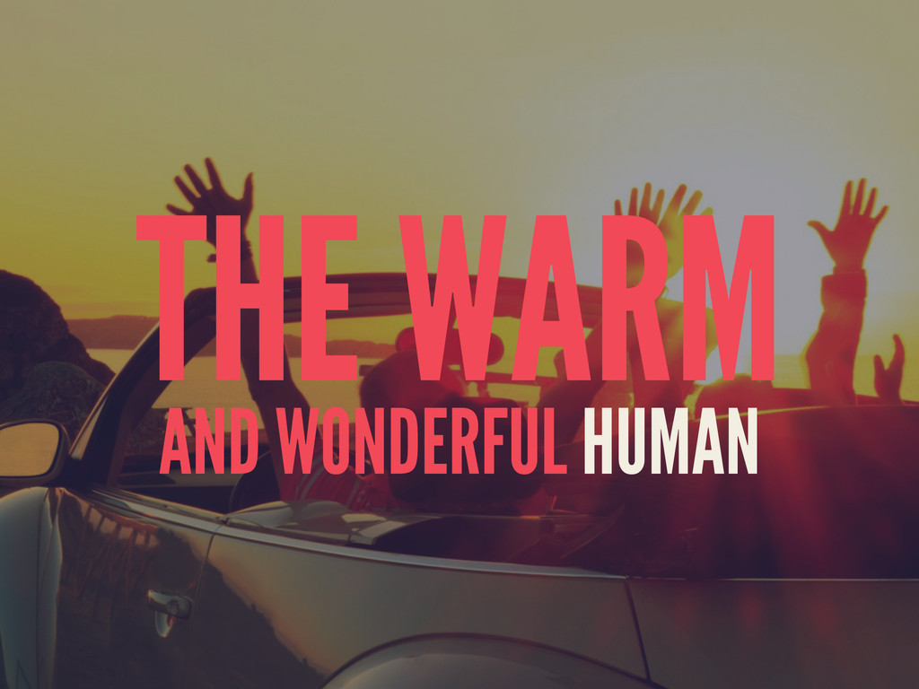 THE WARM AND WONDERFUL HUMAN