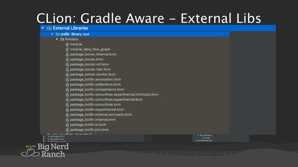 CLion: Gradle Aware - External Libs
