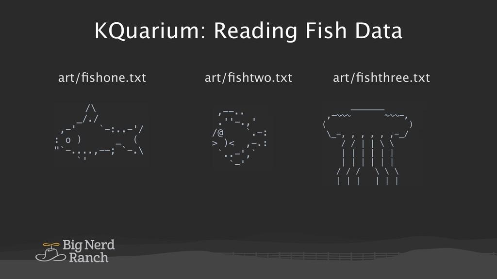 KQuarium: Reading Fish Data /\ _/./ ,-' `-:..-'...