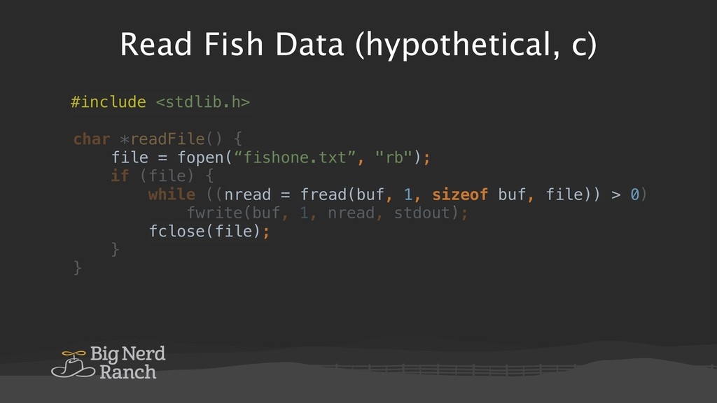 Read Fish Data (hypothetical, c) #include <stdl...