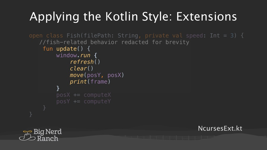 Applying the Kotlin Style: Extensions NcursesEx...