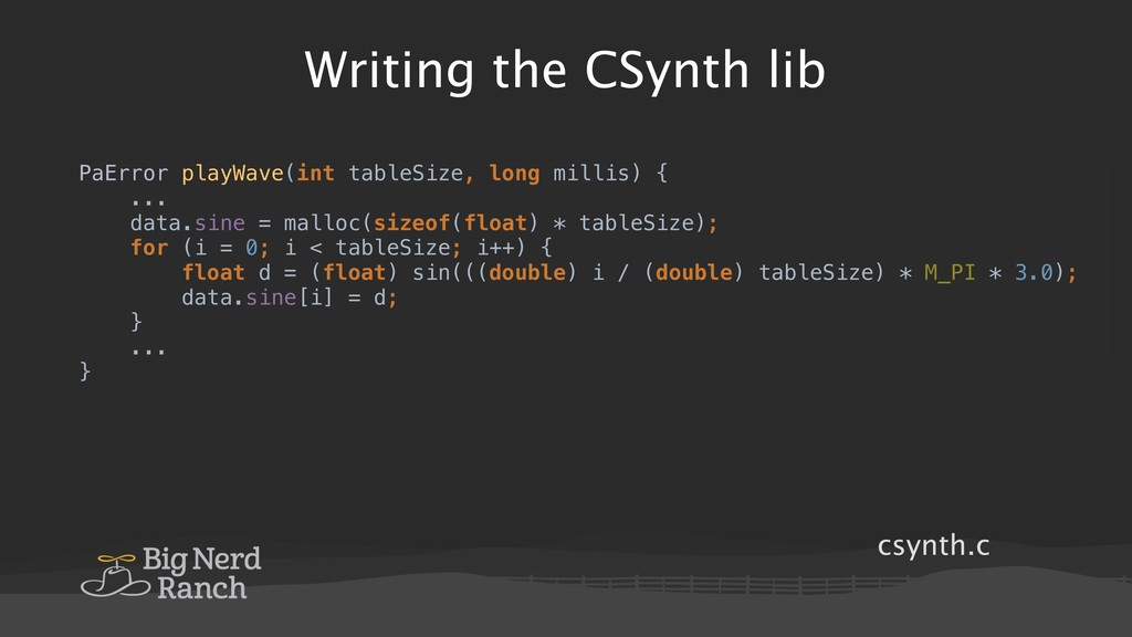csynth.c Writing the CSynth lib PaError playWav...