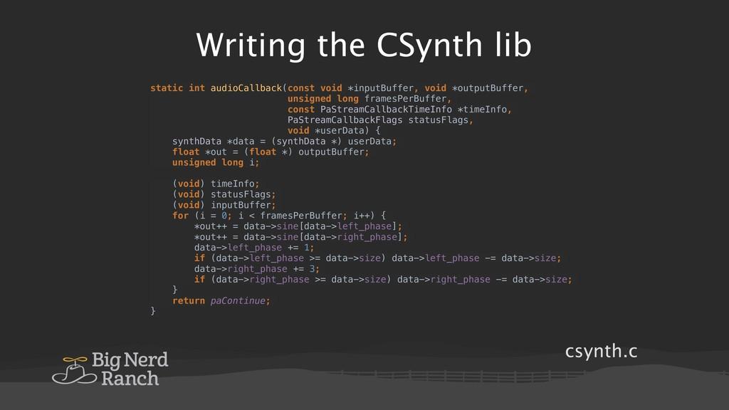 csynth.c Writing the CSynth lib static int audi...