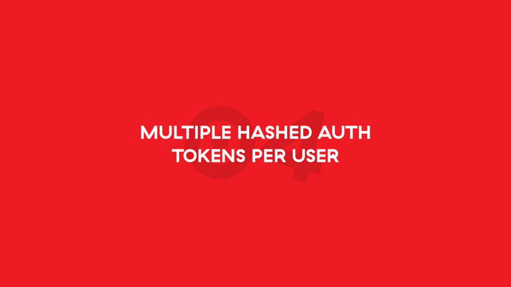 04 MULTIPLE HASHED AUTH TOKENS PER USER