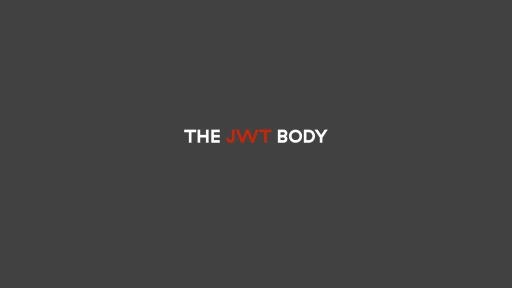 THE JWT BODY