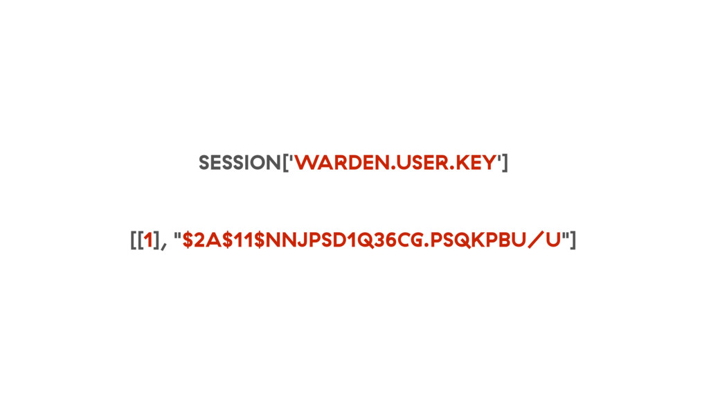 "SESSION['WARDEN.USER.KEY'] [[1], ""$2A$11$NNJPSD..."
