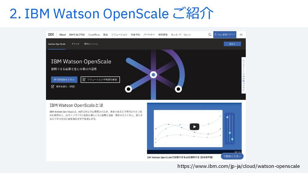 2. IBM Watson OpenScale æø¿ https://www.ibm.com...
