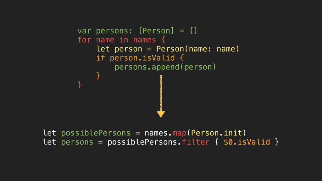 let possiblePersons = names.map(Person.init) le...