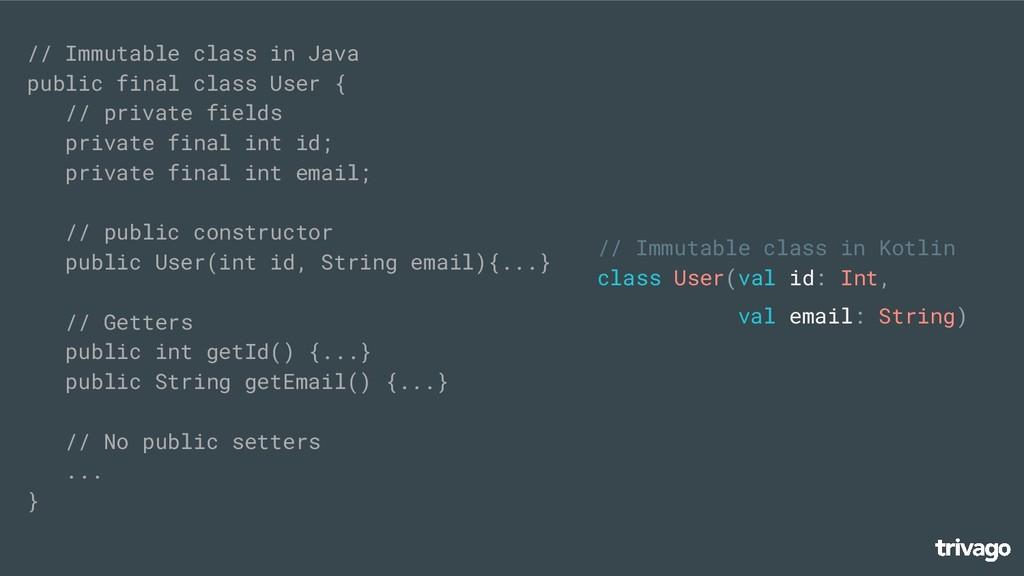 // Immutable class in Java public final class U...