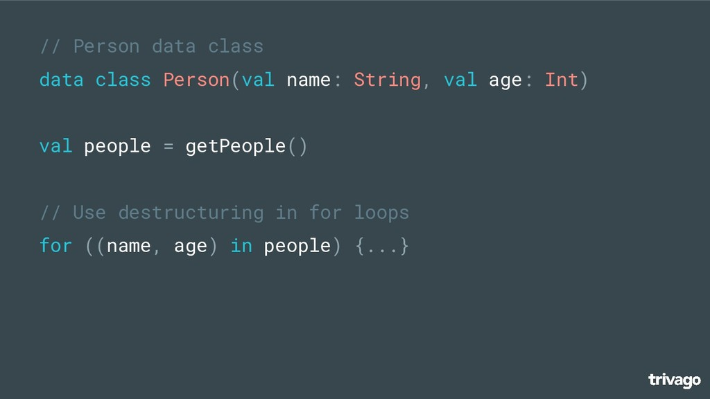 // Person data class data class Person(val name...