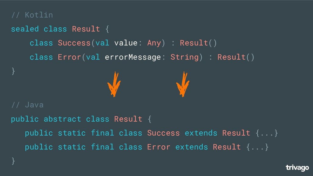 // Java public abstract class Result { public s...