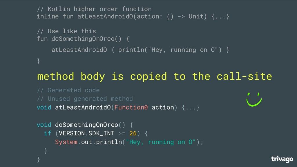 // Kotlin higher order function inline fun atLe...