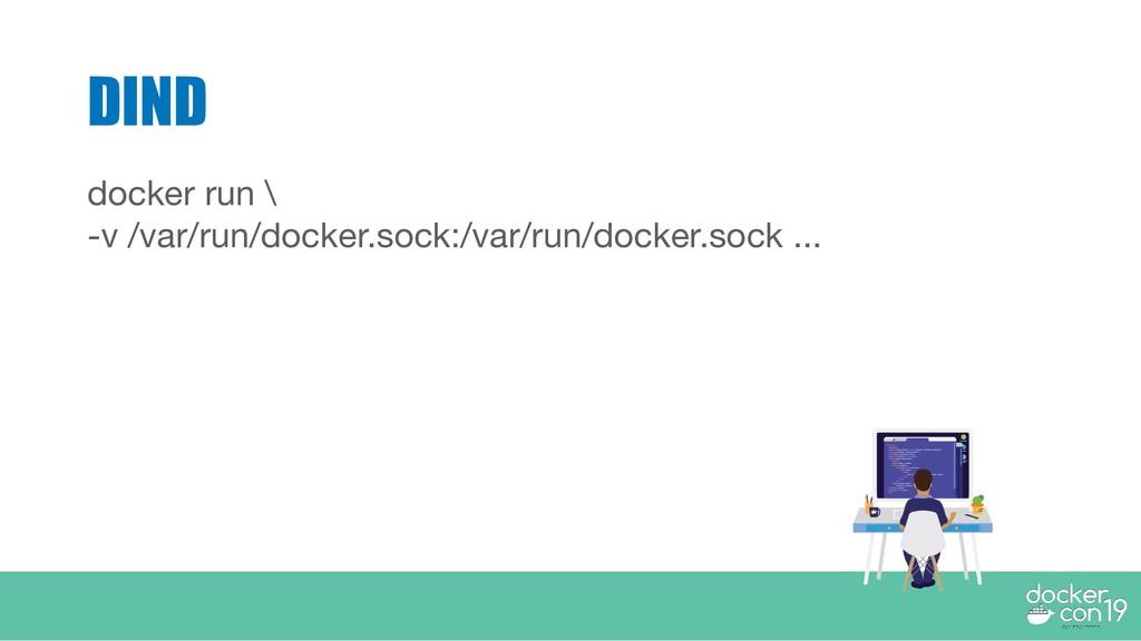 DIND docker run \ -v /var/run/docker.sock:/var/...