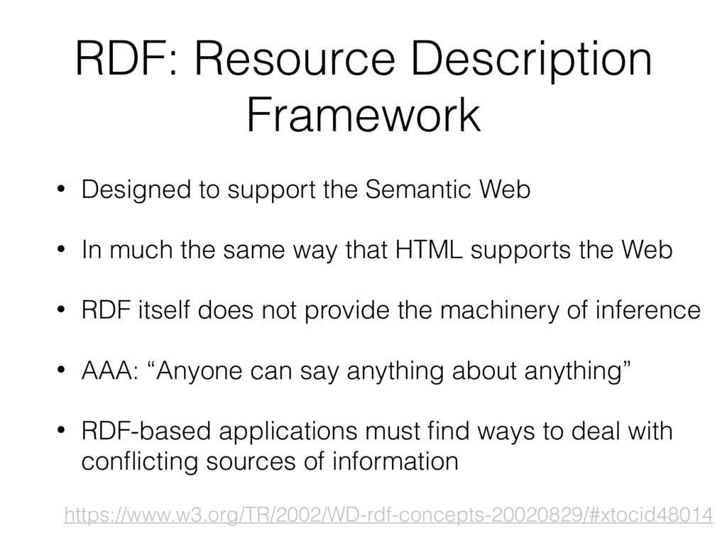 RDF: Resource Description Framework • Designed ...