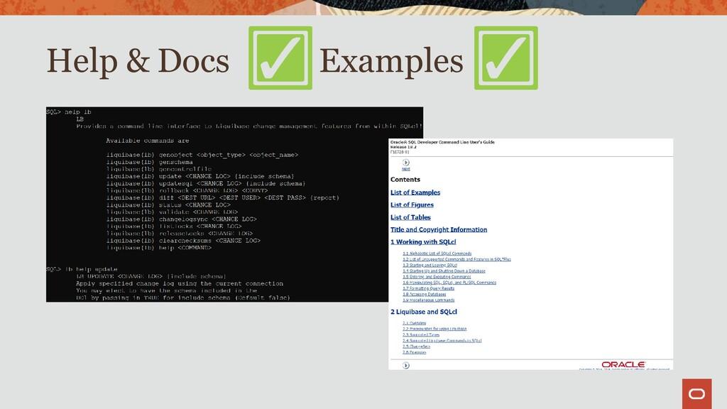 Help & Docs Examples