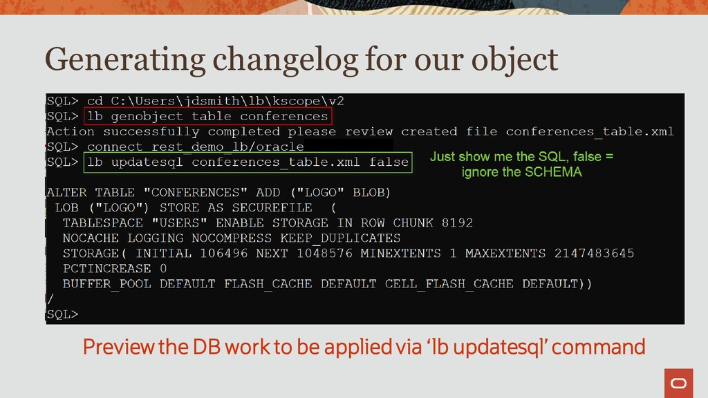 Generating changelog for our object Preview the...