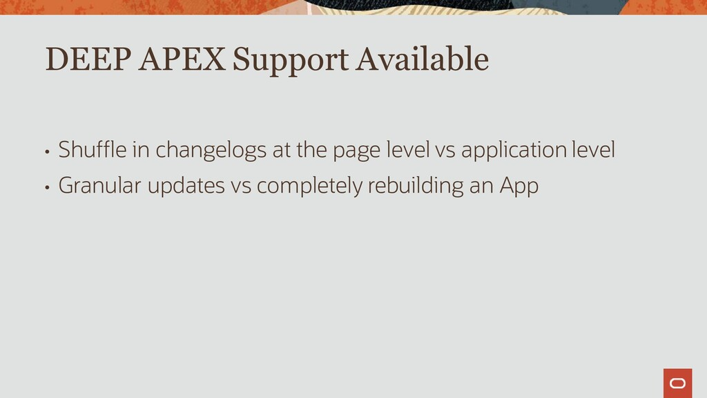 • Shuffle in changelogs at the page level vs ap...