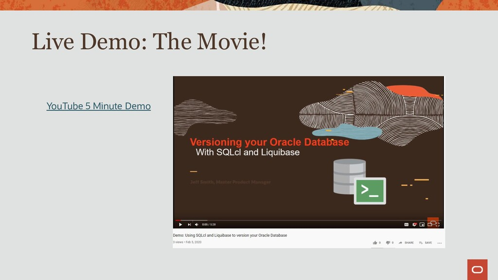 Live Demo: The Movie! YouTube 5 Minute Demo