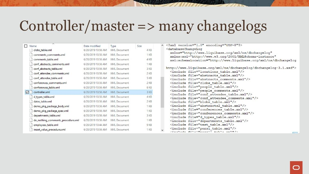 Controller/master => many changelogs