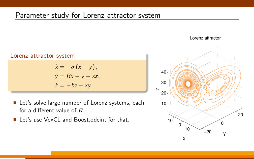 Parameter study for Lorenz attractor system Lor...