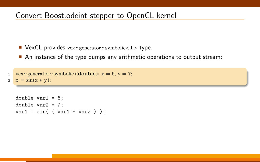 Convert Boost.odeint stepper to OpenCL kernel V...