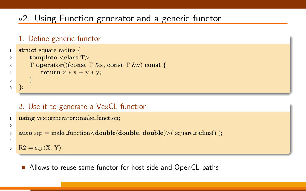 v2. Using Function generator and a generic func...