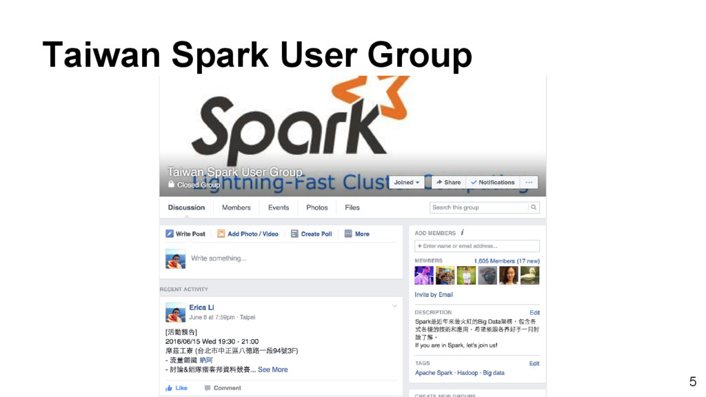 Taiwan Spark User Group 5