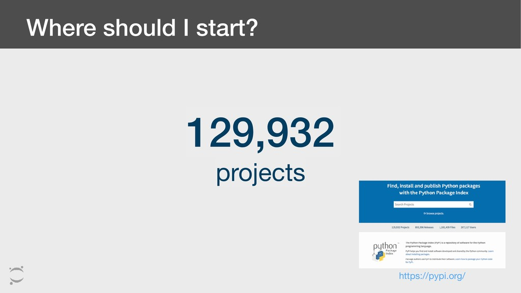 Where should I start? 129,932 projects https://...