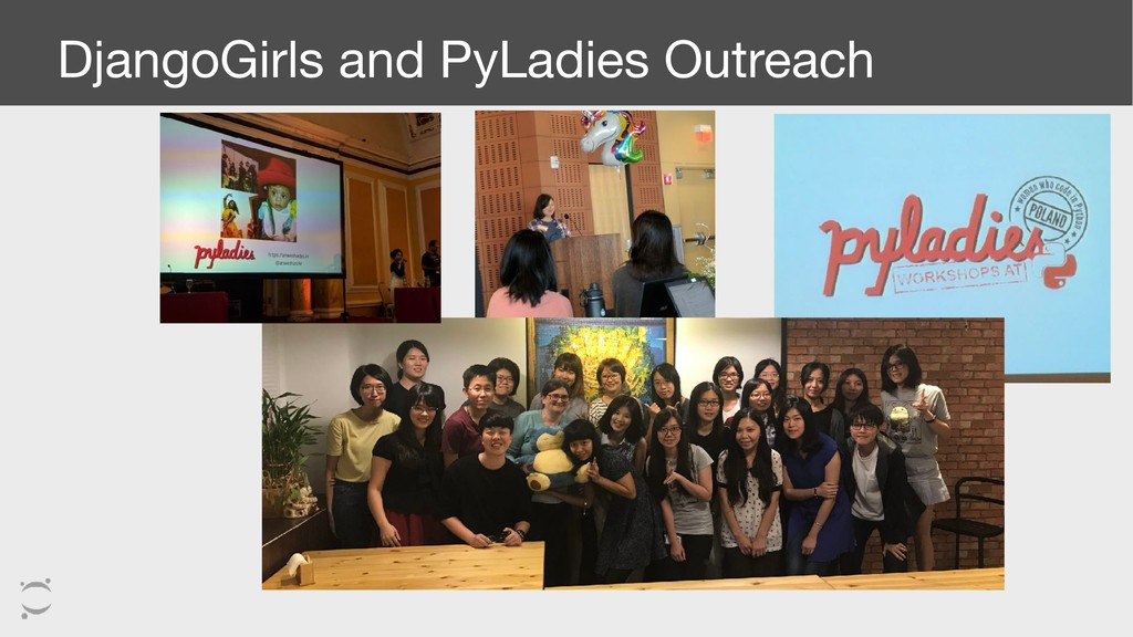 DjangoGirls and PyLadies Outreach