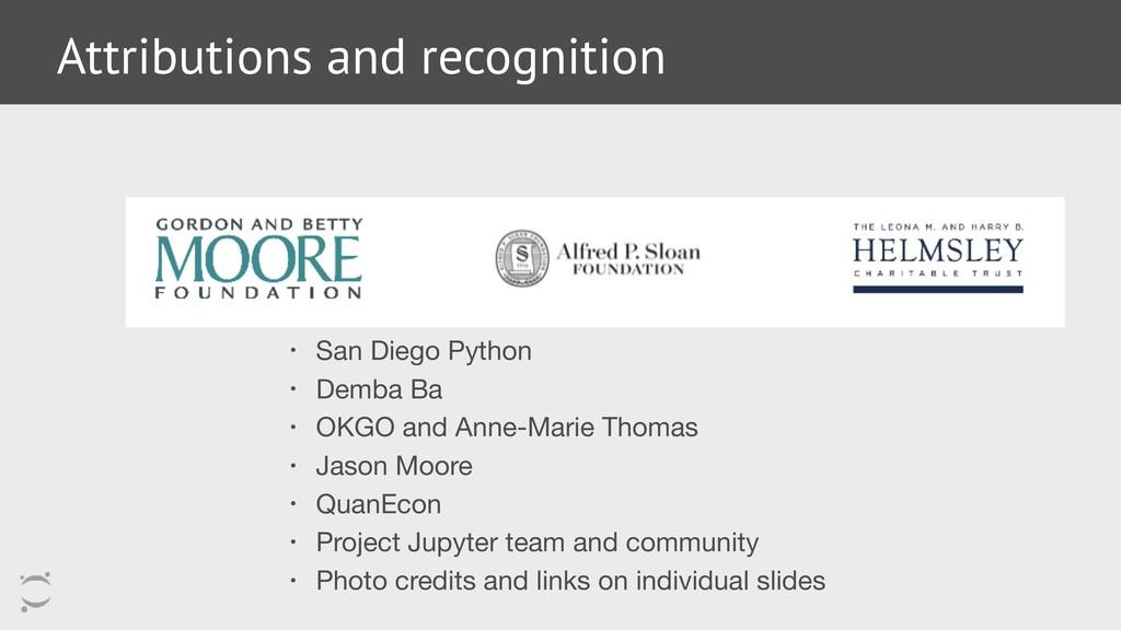 • San Diego Python  • Demba Ba  • OKGO and Anne...