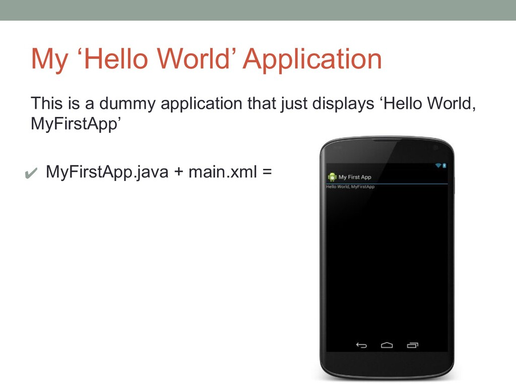 My 'Hello World' Application This is a dummy ap...