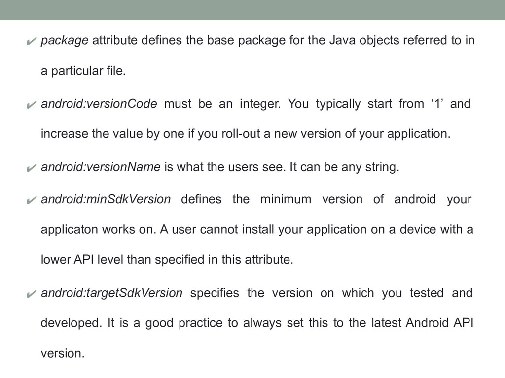 ✔ package attribute defines the base package fo...