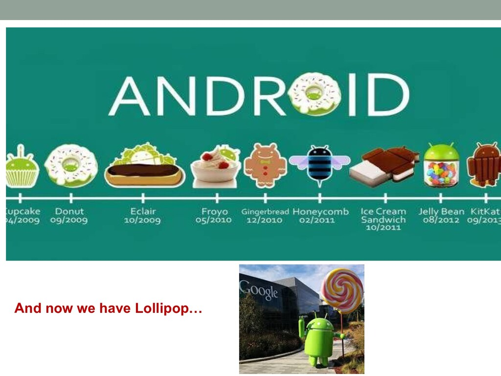 And now we have Lollipop…