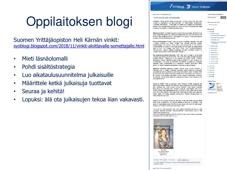 Mistä löydän blogeja? Pedagogien blogeja: opeho...