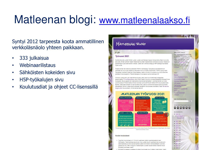 Kenen blogi? • Oppijat – yksin ja pienryhmissä ...