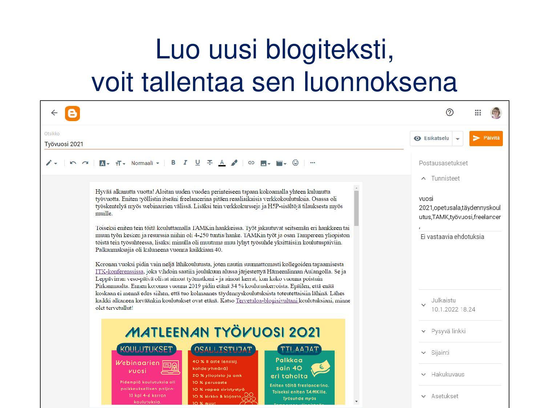 WordPress: artikkelit