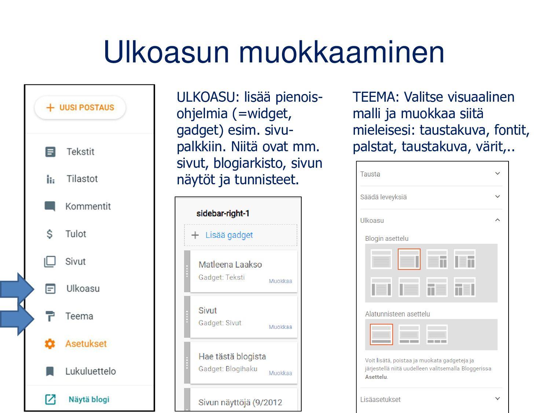 Myös Padlet toimii blogin kaltaisena verkkosivu...